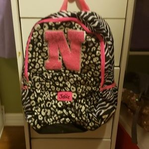 Justice girls initial backpack